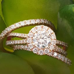Halo Rings At Camperdown Showcase Jewellers